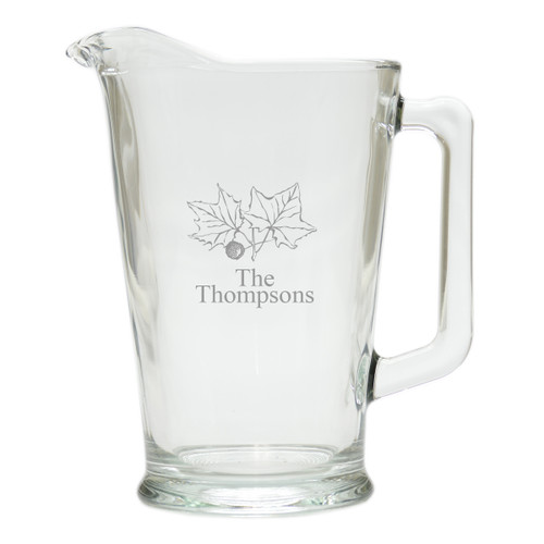 PERSONALIZED LEAVES PITCHER  (GLASS)