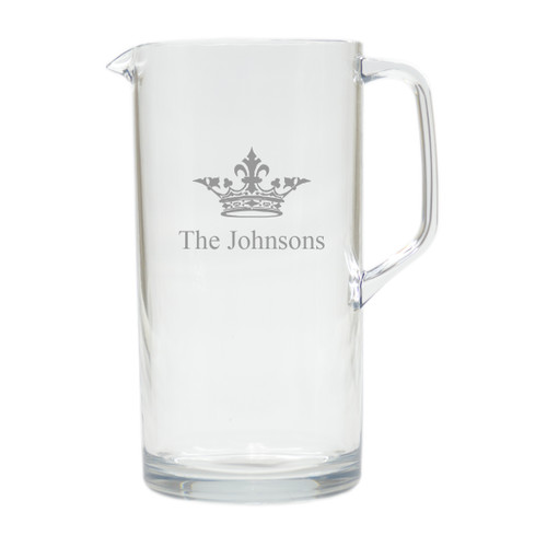 PERSONALIZED CROWN PITCHER (Unbreakable)