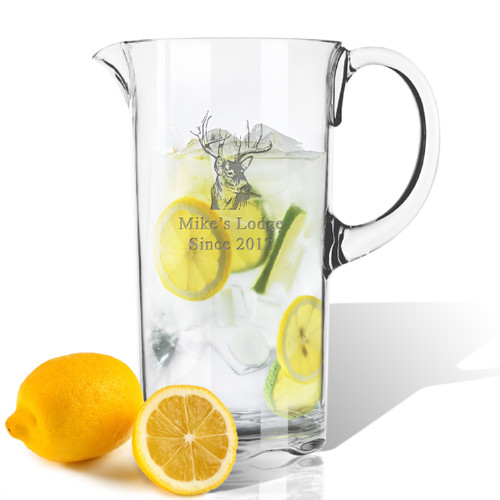 Personalized Tritan Pitcher 55 oz  Buck Lodge