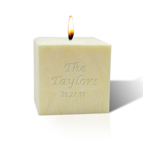 "3"" Pure Aromatherapy Palm Wax Candle - Name & Date"