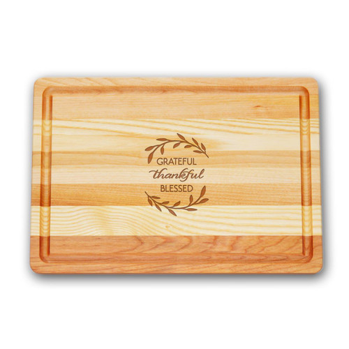 "Medium Master Cutting Boards 14.5"" X 10"" - Grate Thankful Blessed"