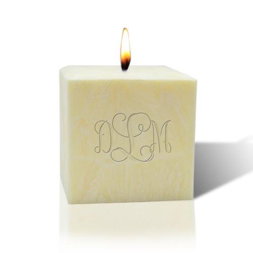 """3"""" Citrus Escape Palm Wax Candle - Monogram"""