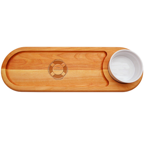 """EVERYDAY BOARD: 21""""x 7"""" DIP & SERVE PERSONALIZED LIFE PRESERVER"""