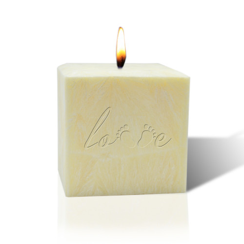 "3"" Pure Aromatherapy Palm Wax Candle - Love Footprint"