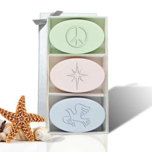 Signature Spa Trio - Green Tea, Satsuma & Blue Lupin: Peace, Star, Dove