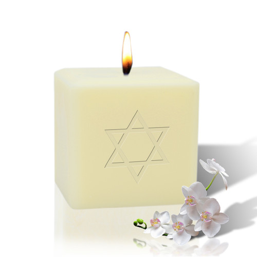 "3"" Soy Pillar Candle - Star of David"