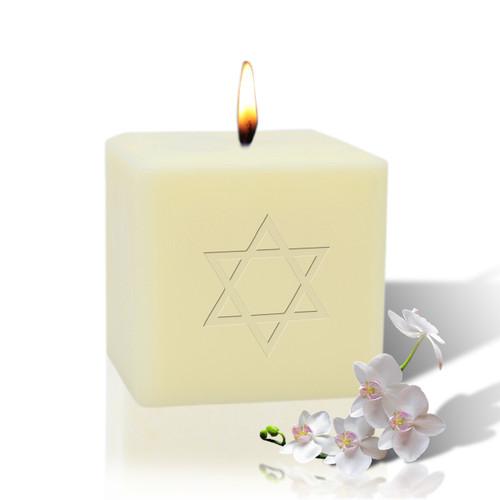 "3"" Soy Pillar Candle - Star of David"