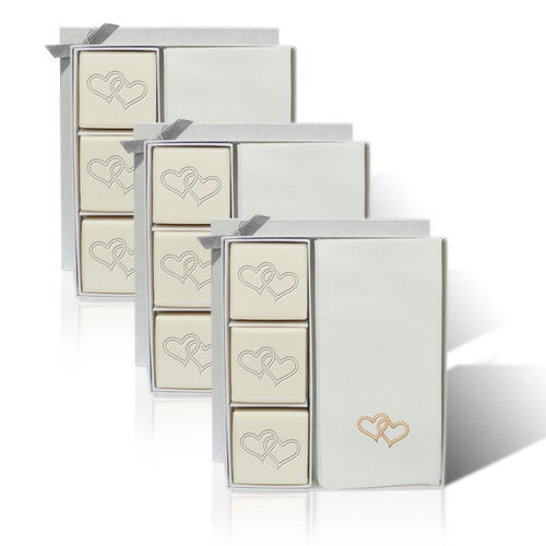 Eco-Luxury Courtesy Gift Set - Double Heart with Gold (Set of 3)