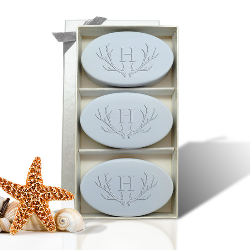 Signature Spa Trio - Wild Blue Lupin: Antler with Single Initial