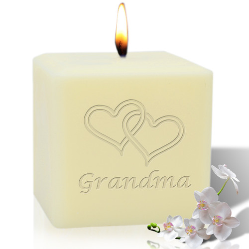 "4"" Soy Pillar Candle - Hearts for Grandma"