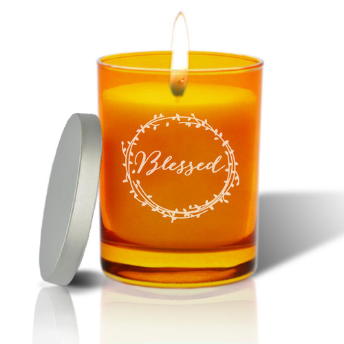 Topaz Soy Glass Candle - Blessed