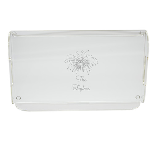 Personalized Acrylic Serving Tray - Fireworks