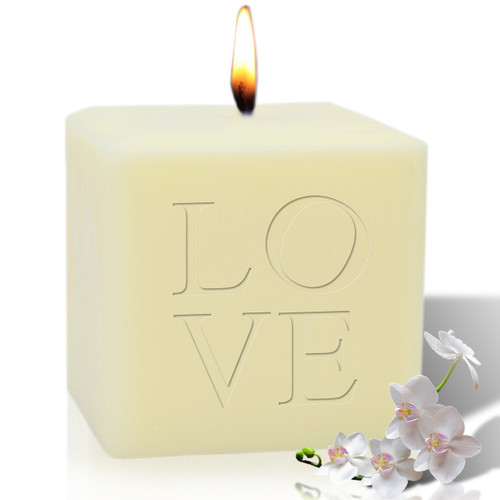 """4"""" Soy Pillar Candle - Love"""
