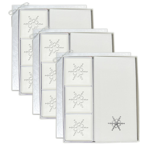 Signature Spa Courtesy Gift Set - Silver Snowflake (Set of 3)