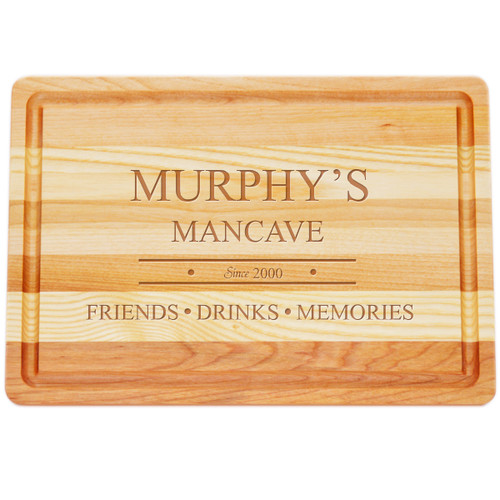 "Medium Master Cutting Boards 14.5"" X 10"" - Personalized Mancave"