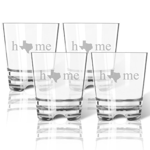 HOME STATE OLD FASHIONED - SET OF 4 (Tritan Unbreakable)