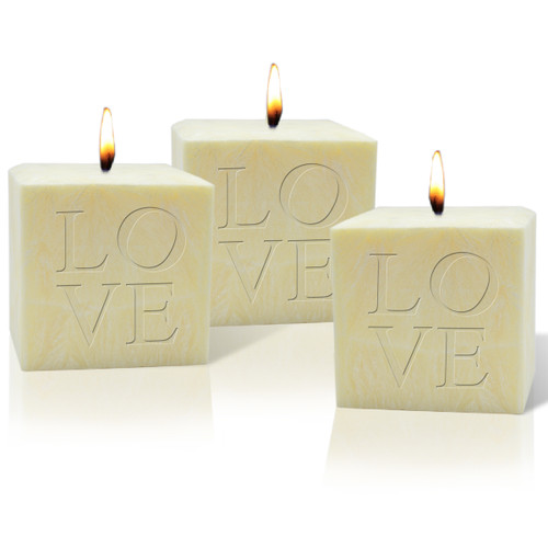 """4"""" Pure Aromatherapy Palm Wax Candle - Love (Set of 3)"""