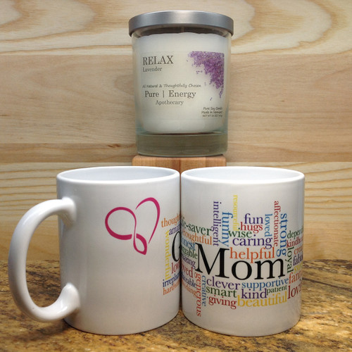 3 Case Pack Pure Energy Apothecary Lavender  Candle and Mom Mug Set