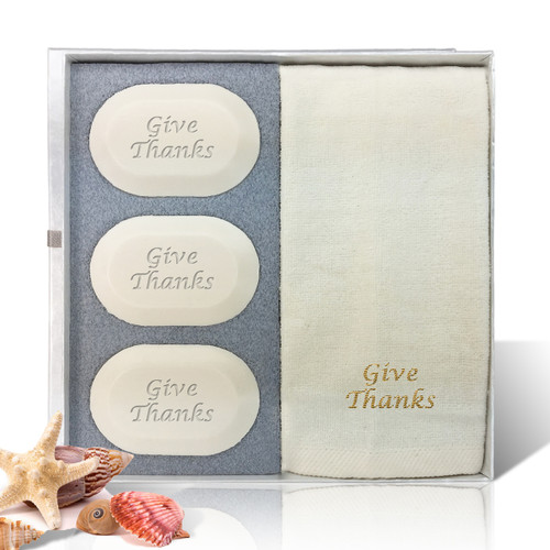 Eco-Luxury Gift Set - Give Thanks! (3 Bars 1 Towel)