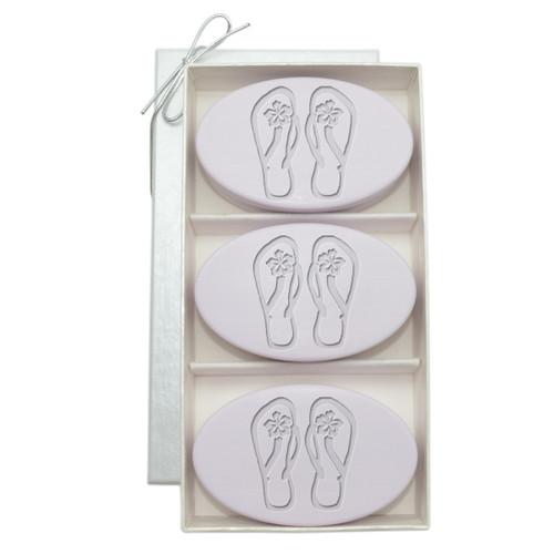Signature Spa Trio - Lavender: Personalized Flip-Flops