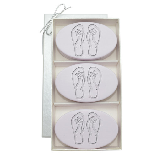 Signature Spa Trio - Lavender: Personalized Flip-Flops