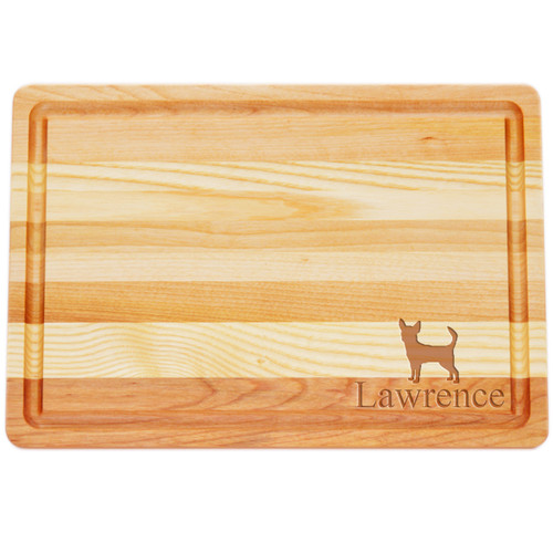 """Medium Master Cutting Boards 14.5"""" X 10"""" - Personalized Dog Silhouettes"""