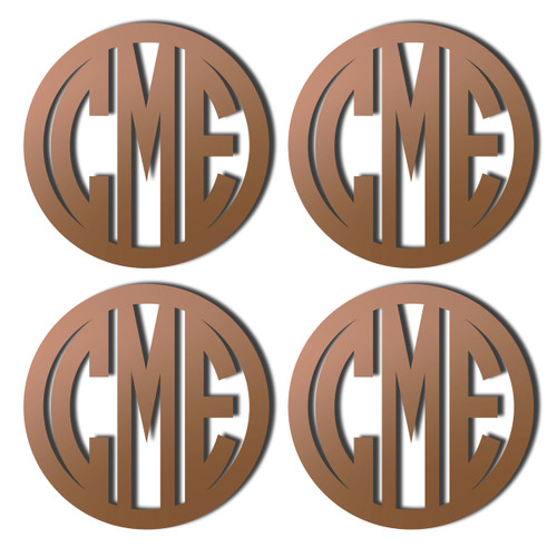 Bronze Mirrored Acrylic Coaster, Set of 4