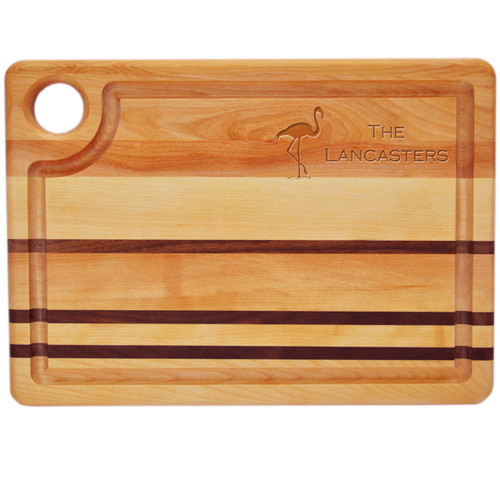 "Integrity Steak Carving Board 14"" X 10"" - Personalized Flamingo"