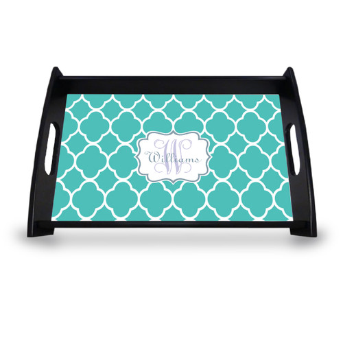 Personalized Serving Tray - Moroccan Vine Initial and Name