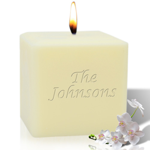 """4"""" Soy Pillar Candle - Personalized"""