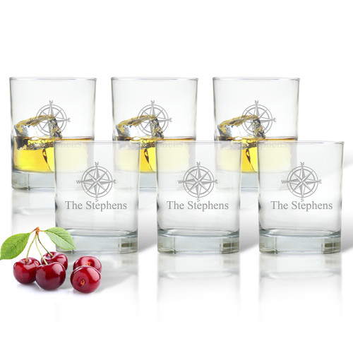 ICON PICKER DOUBLE OLD FASHIONED - SET OF 6 GLASS (Beach / Nautical)