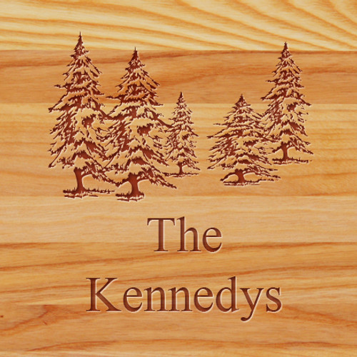 Cutting Board - Personalized (PINETREES)