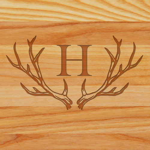 Cutting Board - Personalized (ANTLER INITIAL)