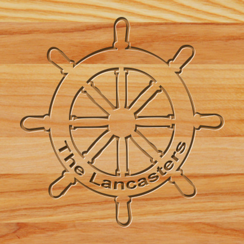 Cutting Board - Personalized (SHIPWHEEL)