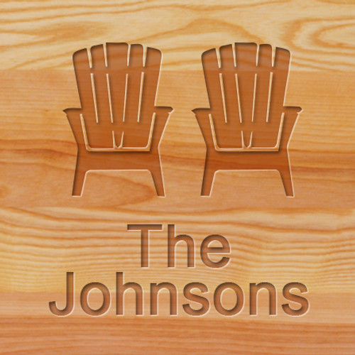 Cutting Board   Personalized (ADIRONDACK CHAIRS)