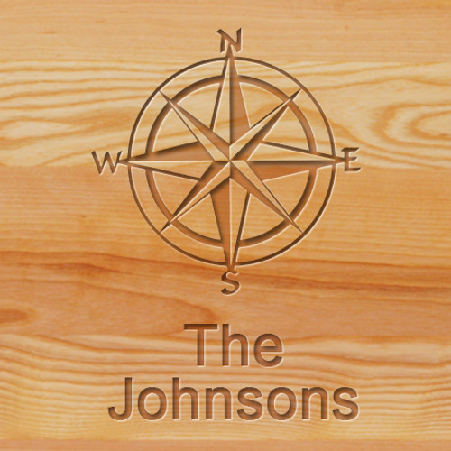 Cutting Board - Personalized (COMPASS ROSE)
