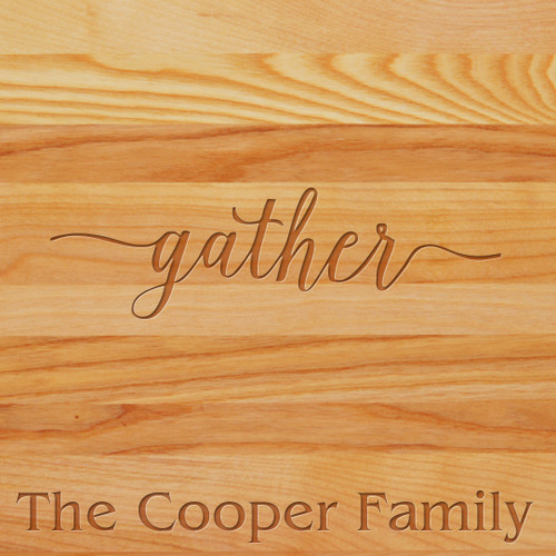 Cutting Board - Personalized (GATHER WITH NAME)