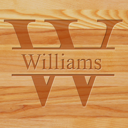 Cutting Board - Personalized (SPLIT LETTER)