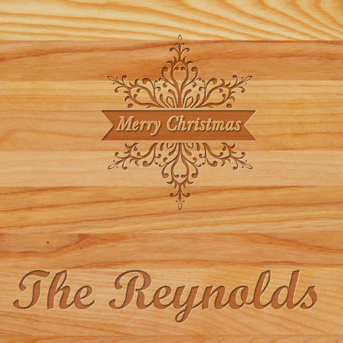 Cutting Board - Personalized (MERRY CHRISTMAS STAR)