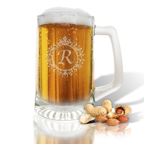 PERSONALIZED SPORTS MUG (GLASS)(Initial/Monogram Prime Design)