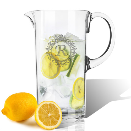 ICON PICKER Personalized Tritan Pitcher 55 oz (Initial/Monogram Prime Design)