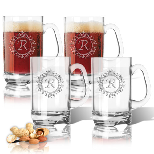 Tritan Sports Mug 16oz (Set of 4)(Initial/Monogram Prime Design)