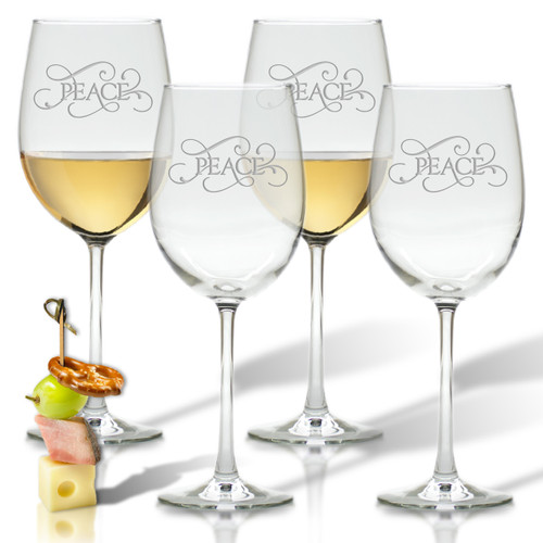 ICON PICKER PERSONALIZED WINE STEMWARE - SET OF 4 (GLASS)(Common Sayings)