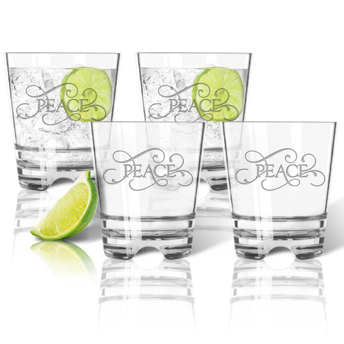 ICON PICKER Tritan Double Old Fashioned Glasses 12oz (Set of 4)(Common Sayings)