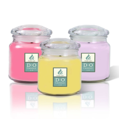Spring Set of Pure Air Odor Eliminating 16oz Jars (Set of 3) - Honeysuckle, Lilac, & Strawberry Ice Cream