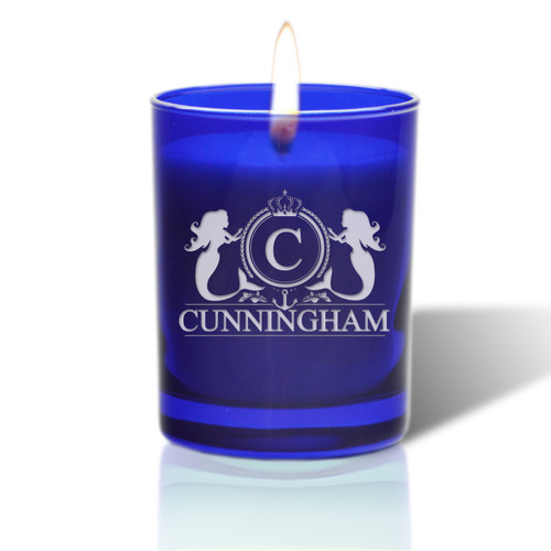 David Oreck Personalized Cobalt Candles (Mermaid)
