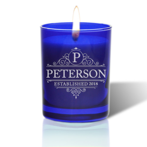 David Oreck Personalized Cobalt Candles (Peterson)