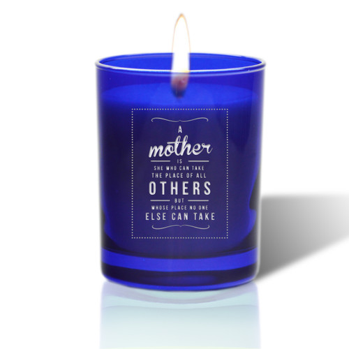 David Oreck Personalized Cobalt Candles ( mother orthers )