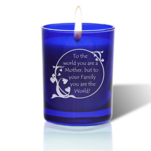 David Oreck Personalized Cobalt Candles ( mother world)