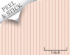 Bouquet Stripe, Pink. 1:48 quarter scale peel and stick wallpaper